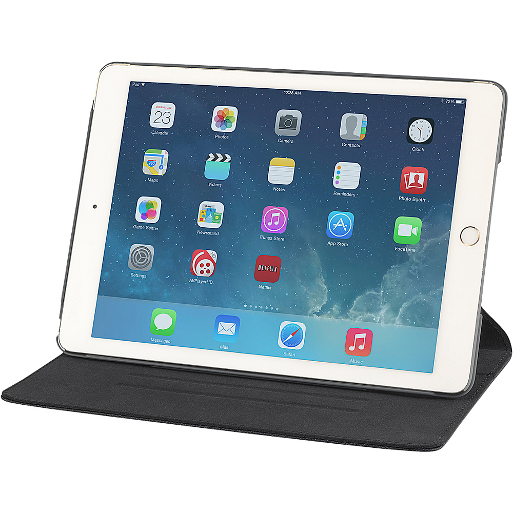 Devicewear Thin Apple iPad Air 2 Case with Six Position Flip Stand and On Off Switch Black Devicewear Electronic Cases