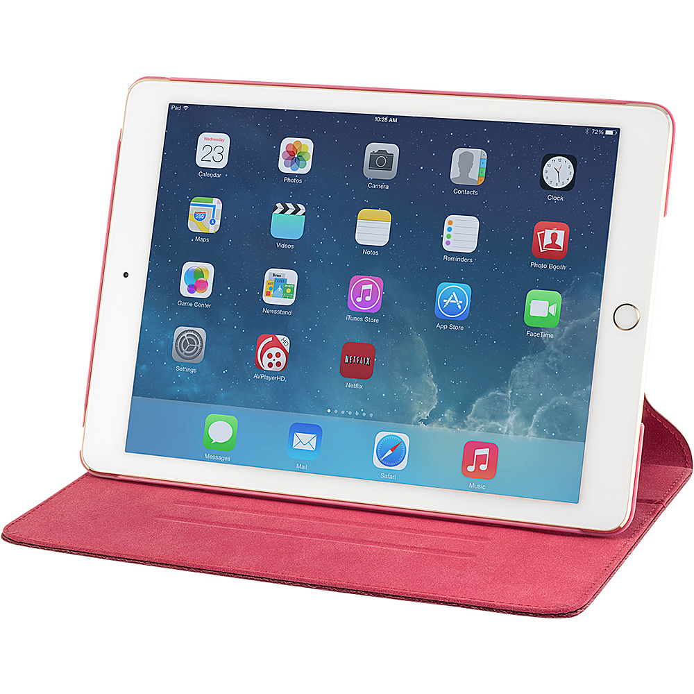 Devicewear Thin Apple iPad Air 2 Case with Six Position Flip Stand and On Off Switch Red Devicewear Electronic Cases