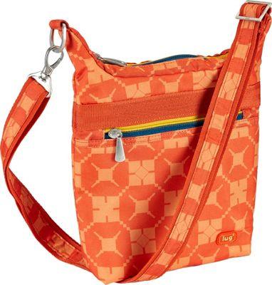 Lug Waddle Cross Body Pouch Sunset Hippo - Lug Fabric Handbags