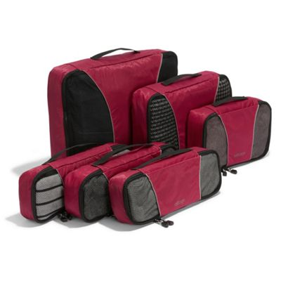 Ebags Packing Cubes - 6pc Value Set Raspberry - eBags Tra...