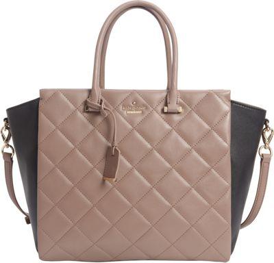 kate spade new york Emerson Place Hayden Spring Putty/Black - kate spade new york Designer Handbags