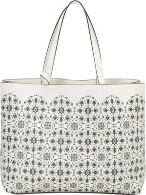 Echo Design Scalloped Medallion Tote White/White - Echo Design Manmade Handbags