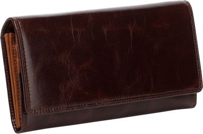 Vicenzo Leather Pelomas Distressed Leather Trifold Women's Coin Purse Brown - Vicenzo Leather Women's Wallets
