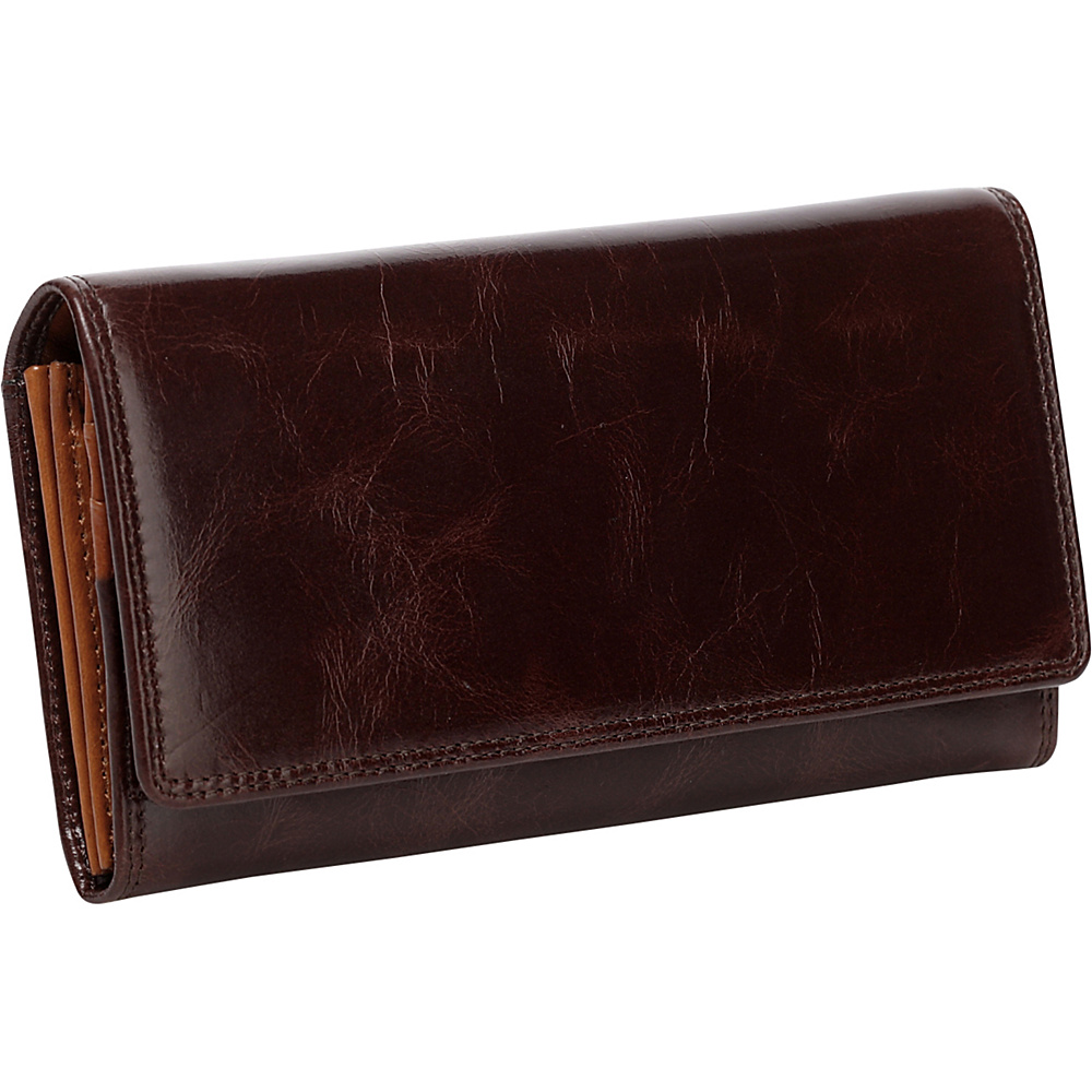 Vicenzo Leather Pelomas Distressed Leather Trifold Women s Coin Purse Brown Vicenzo Leather Women s Wallets