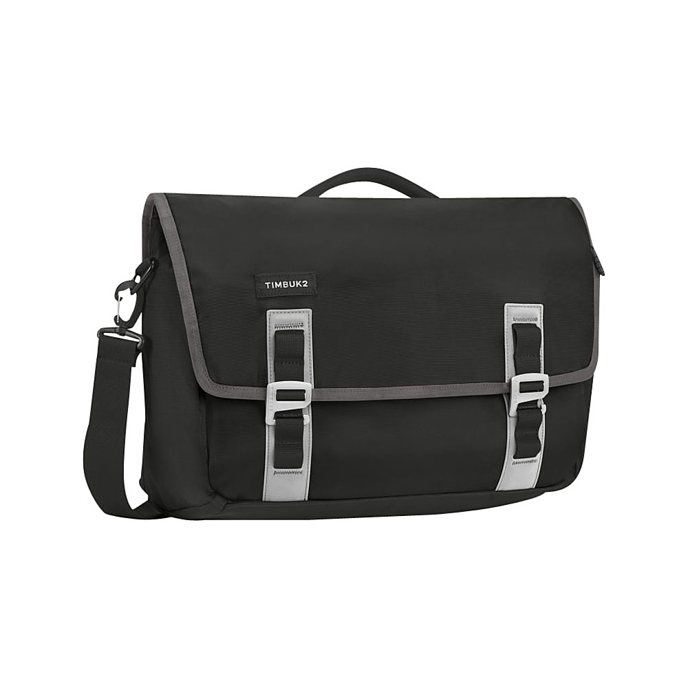 Timbuk2 Command TSA Friendly Laptop Messenger Medium Black Gunmetal Timbuk2 Messenger Bags