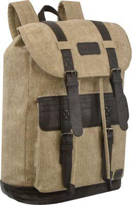 Sherpani Havana Genuine Leather Outdoor Rucksack Backpack French Roast - Sherpani Everyday Backpacks