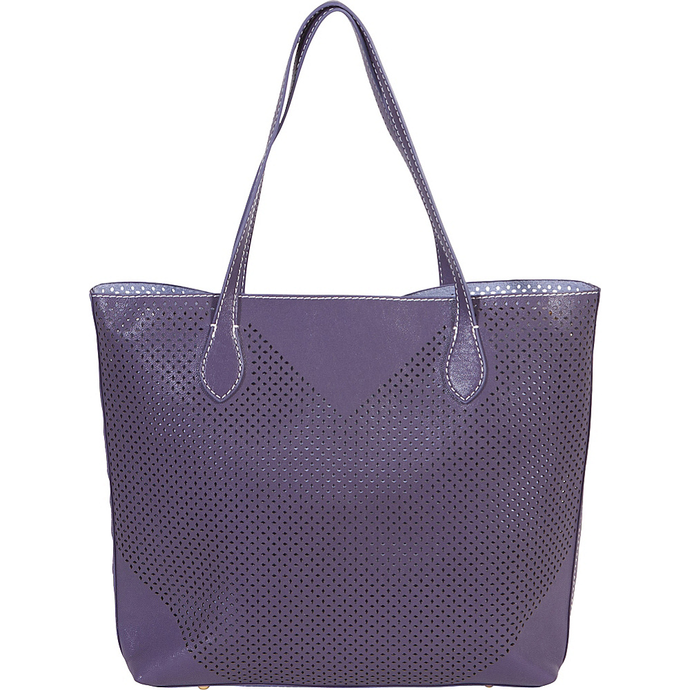 BUCO Large Diamond Tote Purple/Lilac - BUCO Manmade Handbags