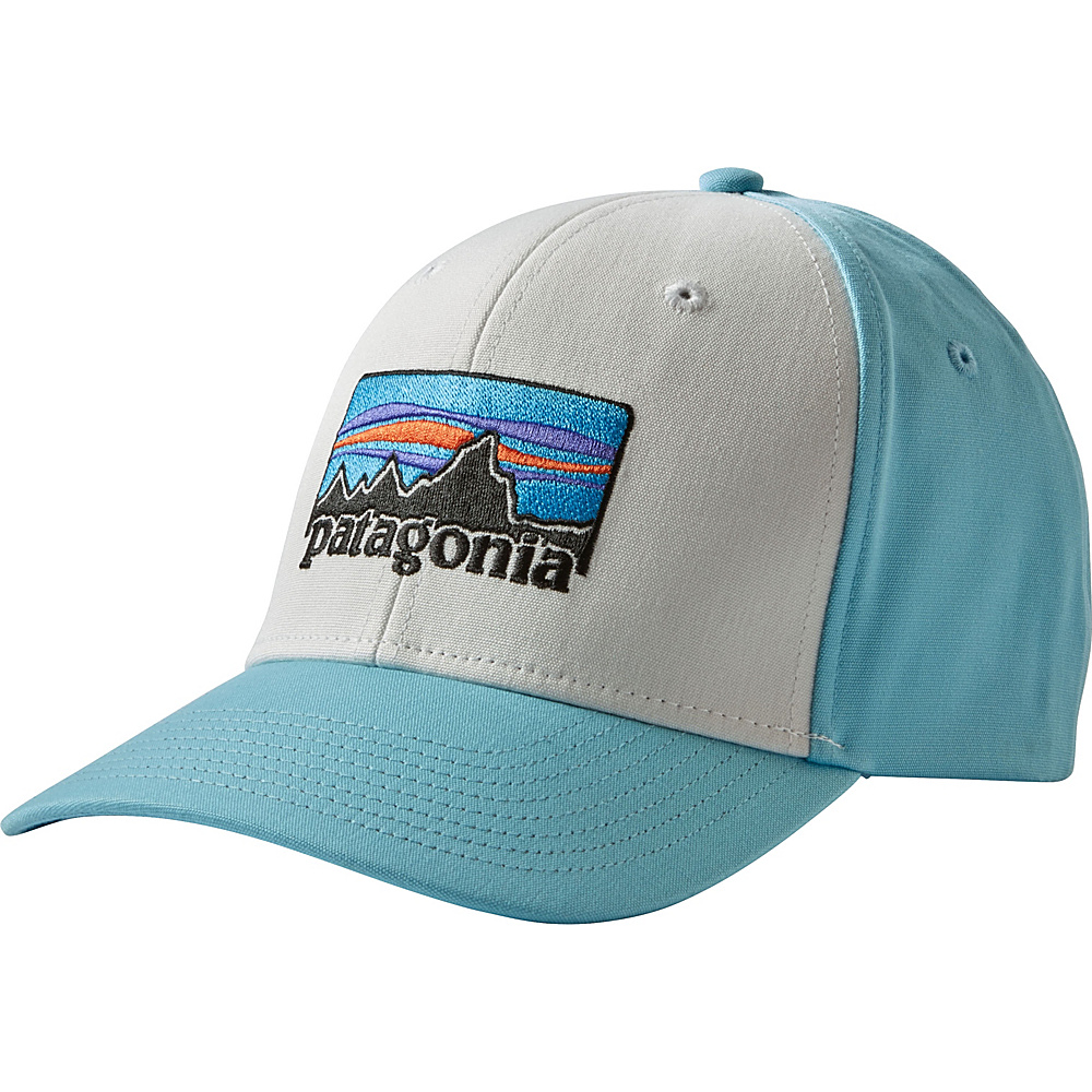 Patagonia 73 Logo Roger That Hat One Size - White w/Cuban Blue - Patagonia Hats/Gloves/Scarves - Fashion Accessories, Hats/Gloves/Scarves