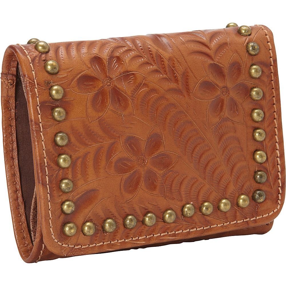 American West Shane Collection Ladies Tri fold French Wallet Golden Tan American West Women s Wallets