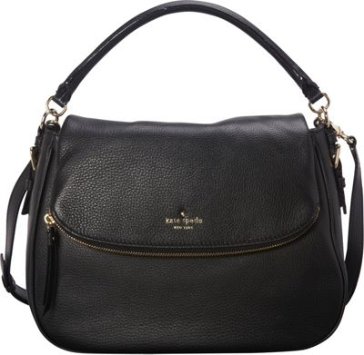 kate spade new york Cobble Hill Devin Satchel Black - kate spade new york Designer Handbags