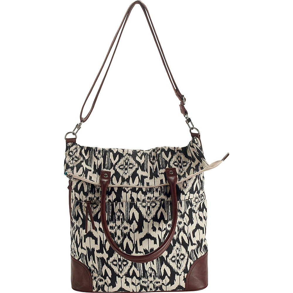 San Diego Hat Ikat Print Canvas Oversized Tote Ikat - San Diego Hat Fabric Handbags