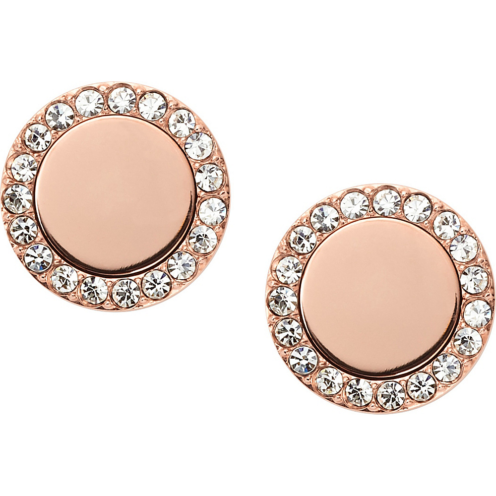 Fossil Glitz Metal Studs Rose Gold - Fossil Other Fashion Accessories - Fashion Accessories, Other Fashion Accessories