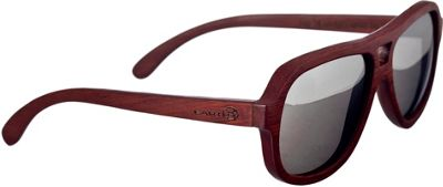 Earth Wood Cannon Sunglasses Red Rosewood - Earth Wood Sunglasses