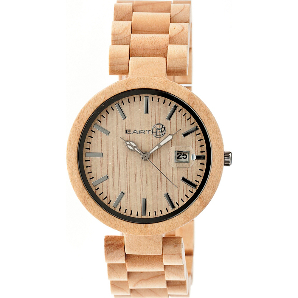 Earth Wood Stomates Watch Khaki Tan Earth Wood Watches