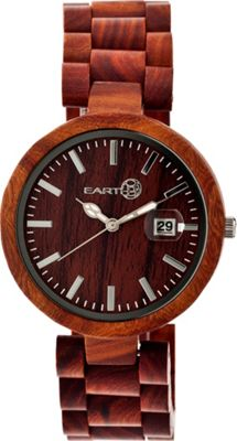 Earth Wood Stomates Watch Red Rosewood - Earth Wood Watches