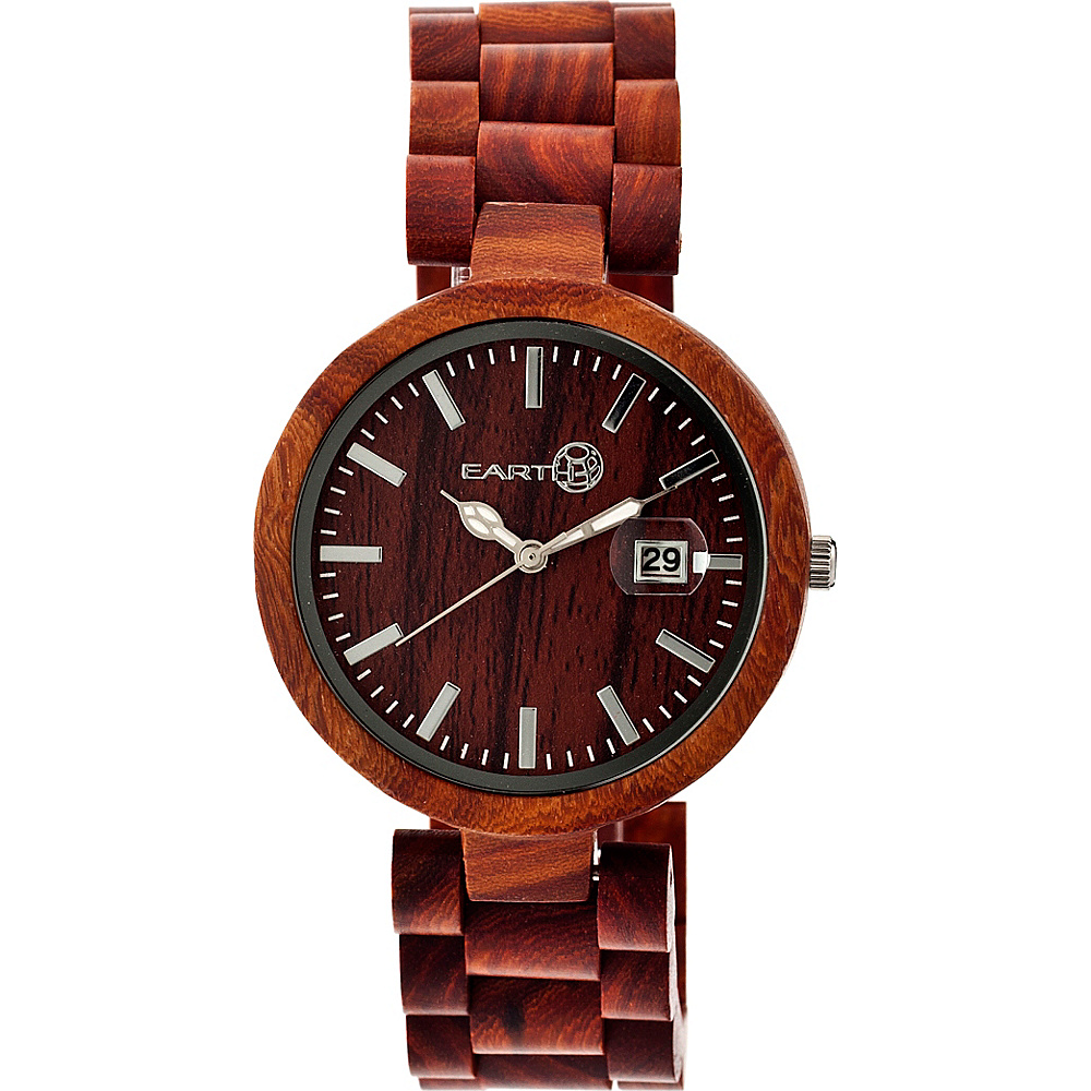 Earth Wood Stomates Watch Red Rosewood Earth Wood Watches