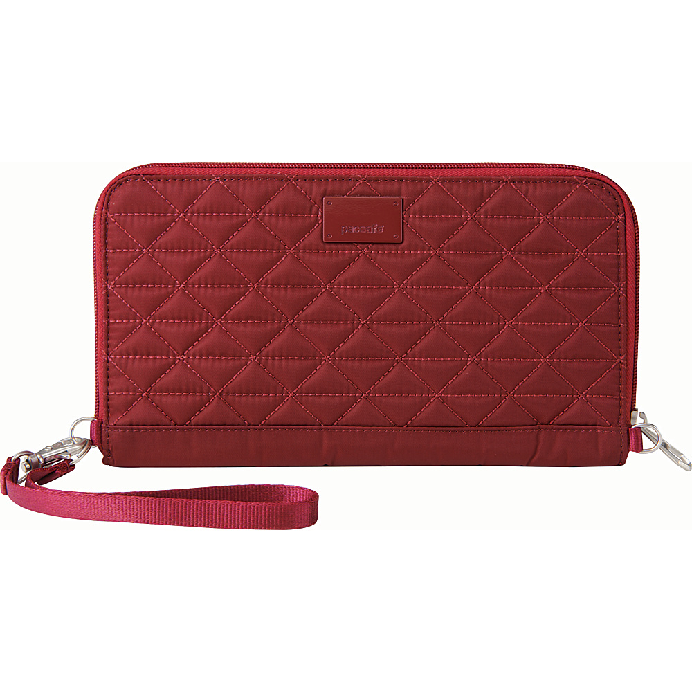 Pacsafe RFIDsafe W250 Cranberry Pacsafe Women s Wallets