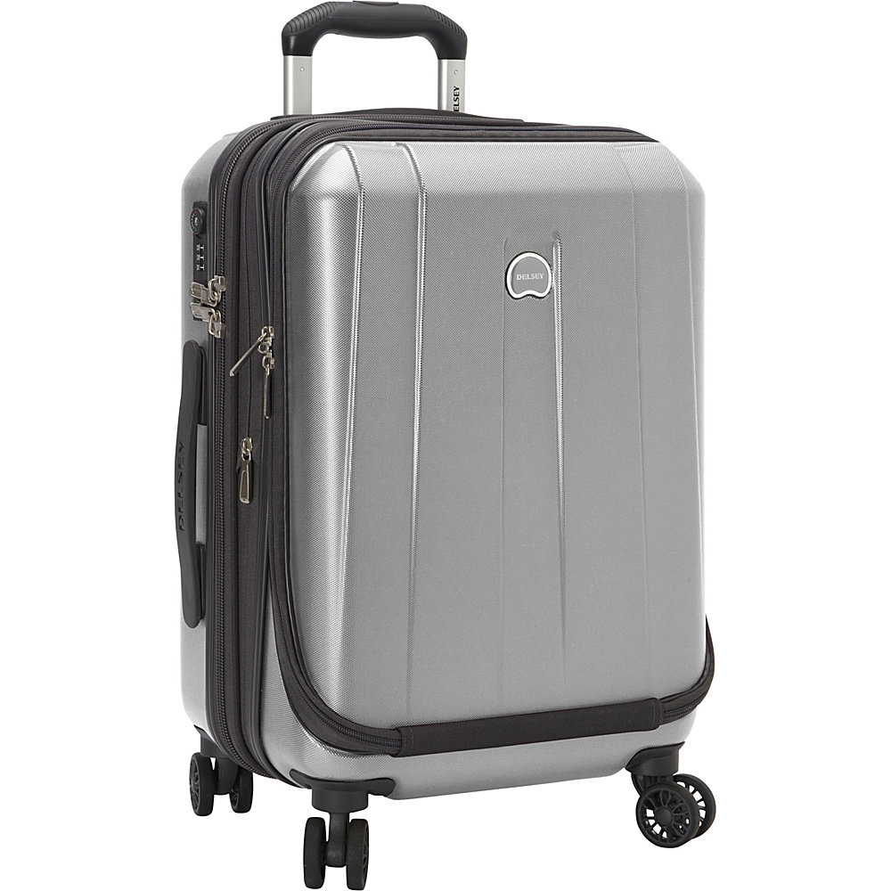 "Delsey Helium Shadow 3.0 19"" Int'l Carry-on Exp. Spinner Suiter Trolley Platinum - Delsey Hardside Carry-On"