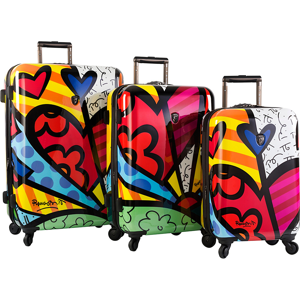 Heys America Britto A New Day 3pc Luggage set Multi Britto A New Day Heys America Luggage Sets
