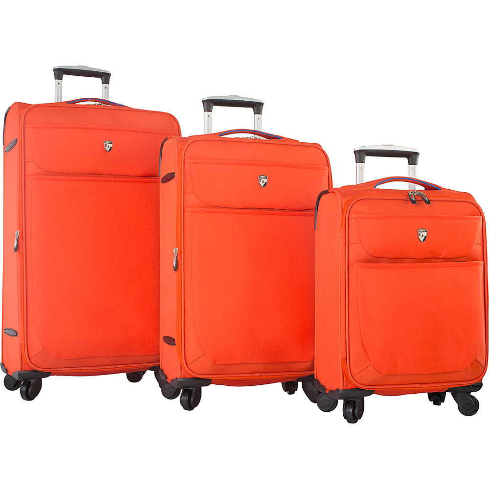 Heys America Argus 3pc Spinner Set Orange Heys America Luggage Sets