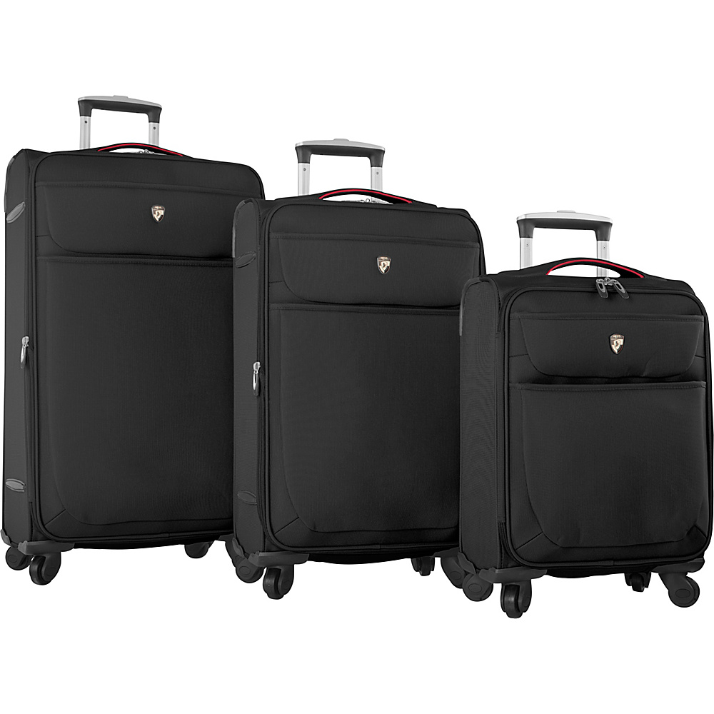 Heys America Argus 3pc Spinner Set Black Heys America Luggage Sets