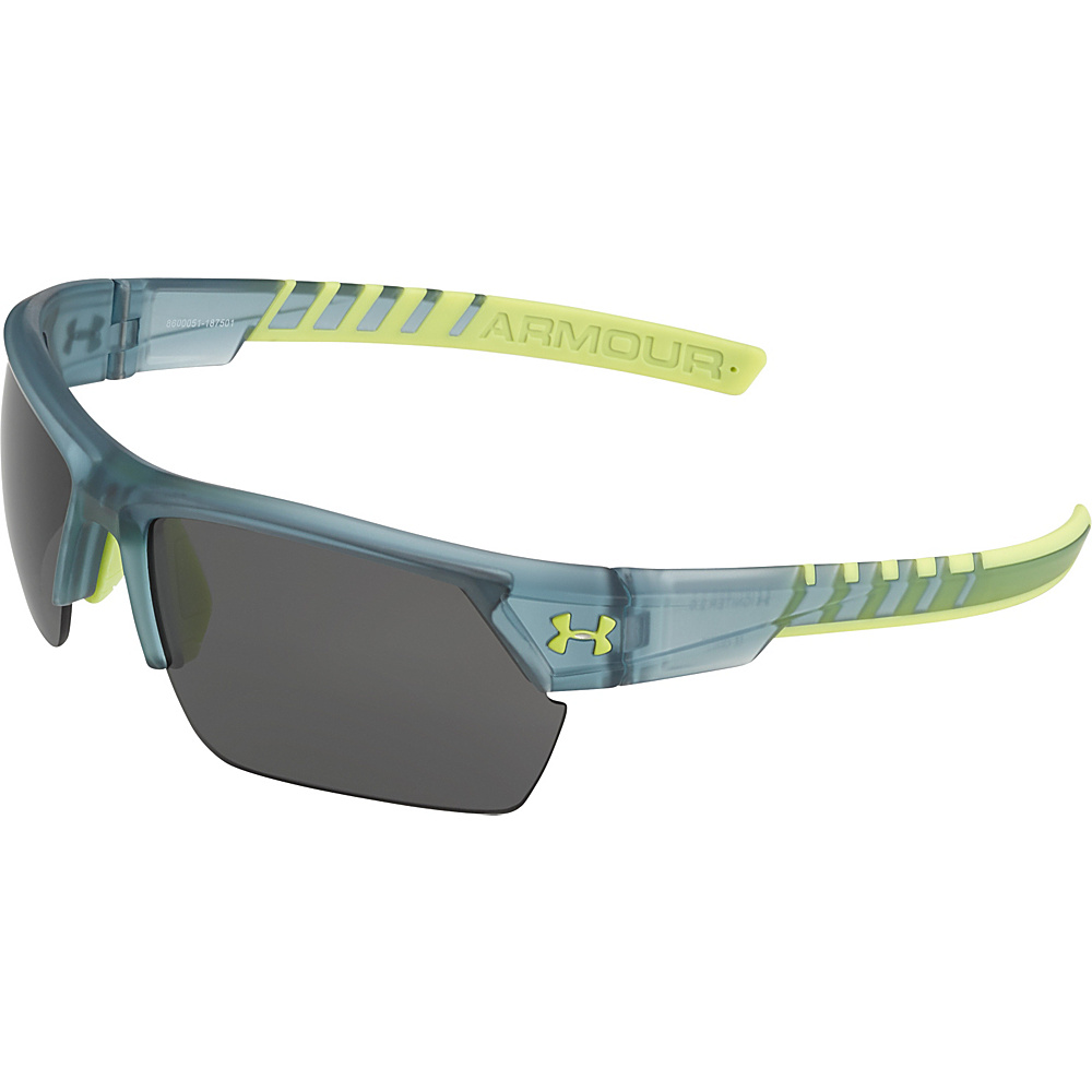 Under Armour Eyewear Igniter 2.0 Sunglasses Satin Crystal Gray Hi Vis Yellow Gray Multiflectio Under Armour Eyewear Sunglasses