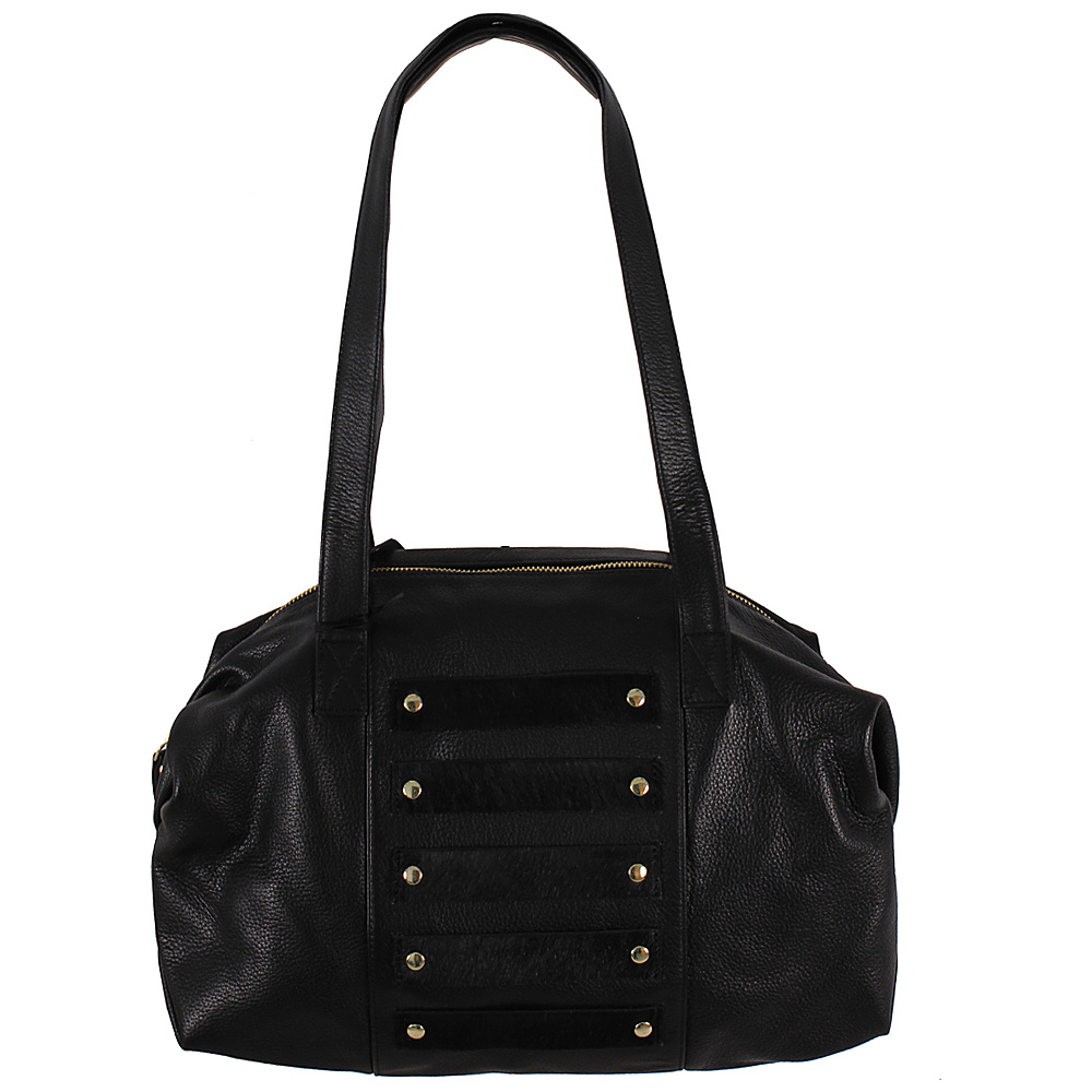 Latico Leathers Enzo Shoulder Bag Black on Black - Latico Leathers Leather Handbags - Handbags, Leather Handbags