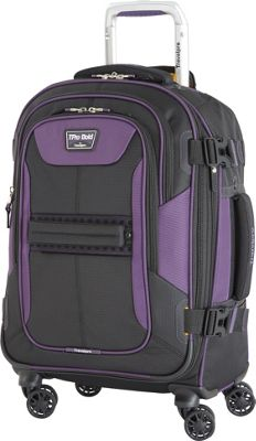 Travelpro T-Pro Bold 2.0 21 inch Expandable Spinner Black & Purple - Travelpro Softside Carry-On