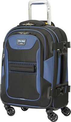Travelpro T-Pro Bold 2.0 21 inch Expandable Spinner Black & Blue - Travelpro Softside Carry-On