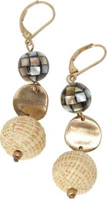 Alexa Starr Goldtone Triple Drop Earrings Turquoise - Alexa Starr Jewelry