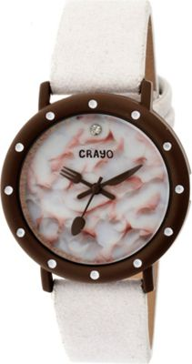 Crayo Slice of Time Watch White - Crayo Watches