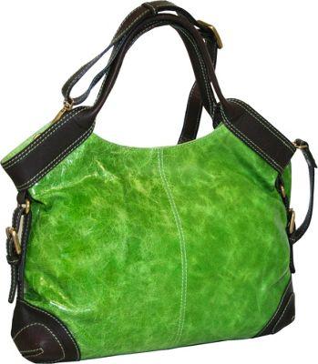 Nino Bossi Grab It Apple Green - Nino Bossi Leather Handbags
