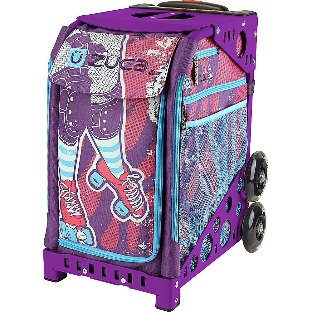 ZUCA Sport Unit Roller Girl Bag Purple Frame Purple Frame and Purple Insert ZUCA Softside Checked