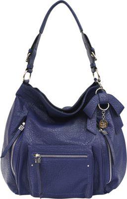 Jessica Simpson Alicia Hobo Midnight Blue - Jessica Simpson Manmade Handbags