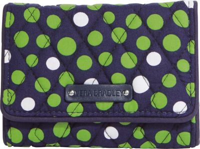 Vera Bradley Small Trifold Wallet Lucky Dots - Vera Bradley Ladies Small Wallets