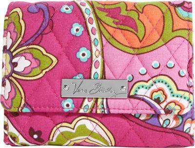 Vera Bradley Small Trifold Wallet Pink Swirls - Vera Bradley Ladies Small Wallets