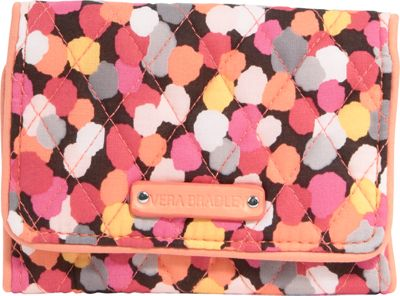 Vera Bradley Small Trifold Wallet Pixie Confetti - Vera Bradley Ladies Small Wallets