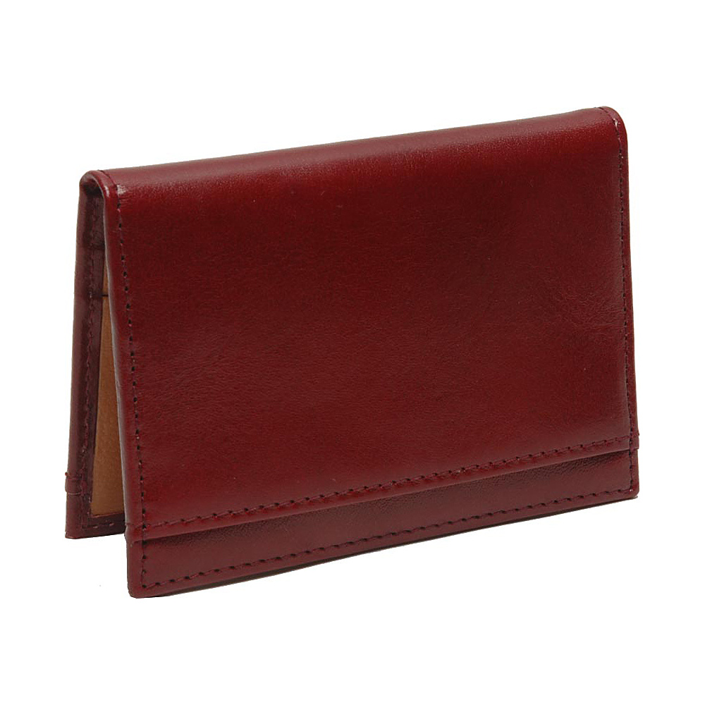 TUSK LTD Brando Folded Credit Card Case Oxblood TUSK LTD Business Accessories
