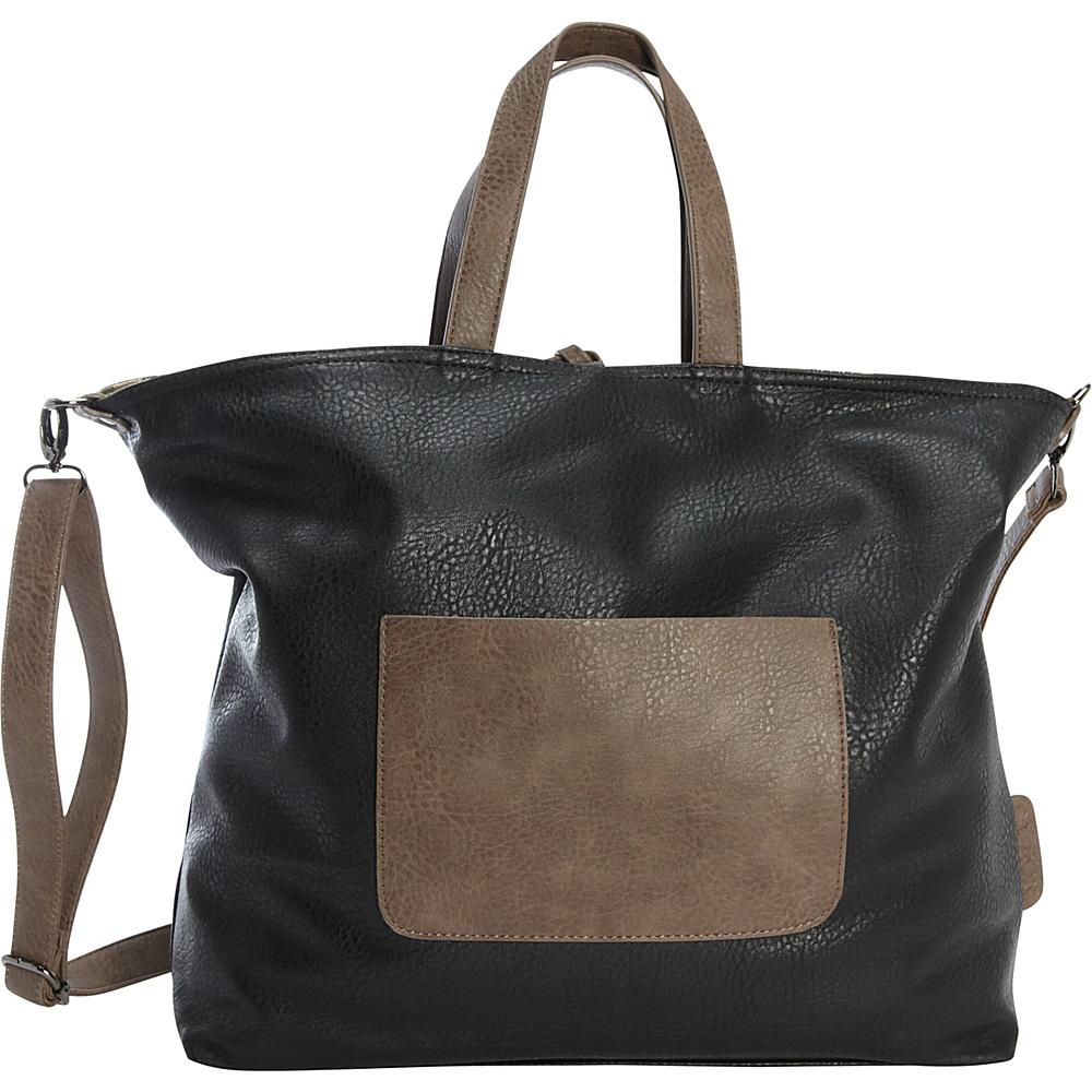 Clava Glam Camo Slouchy Tote/Crossbody Black/Camo - Clava Manmade Handbags