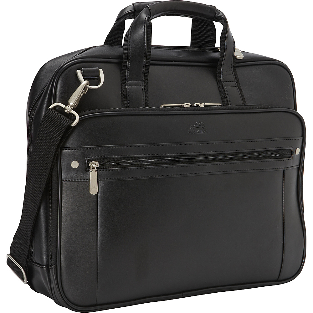 Mancini Leather Goods Business Briefcase for 15.6 Laptop and Tablet Black Mancini Leather Goods Non Wheeled Business Cases
