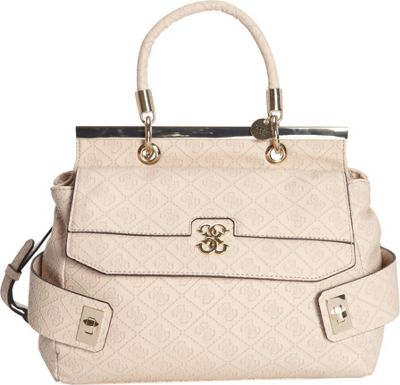 GUESS Carnival Satchel Nude - GUESS Manmade Handbags