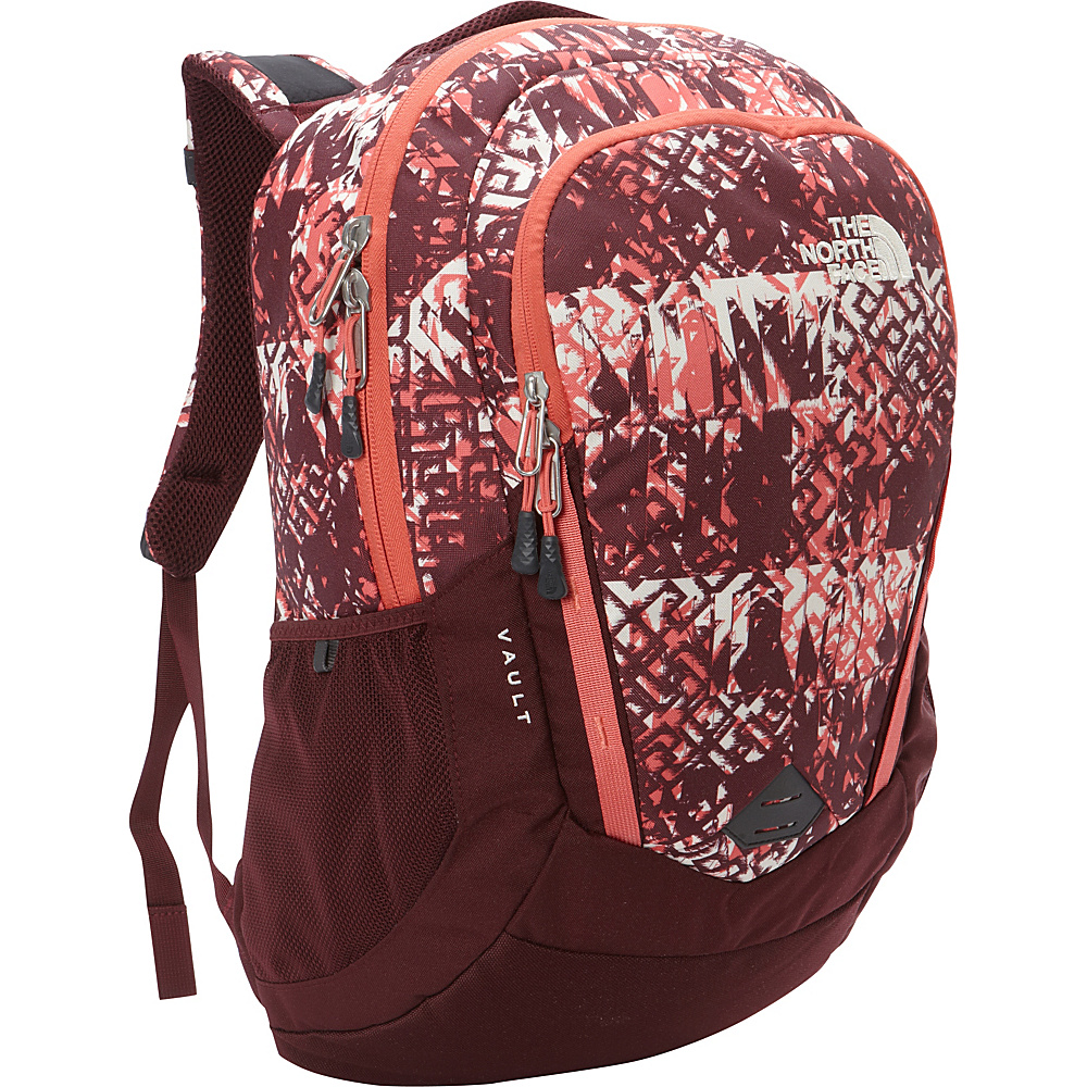 The North Face Women s Vault Laptop Backpack Deep Garnet Red Ethnique Print Deep Garnet Red The North Face Business Laptop Backpacks