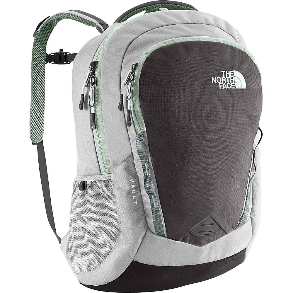 The North Face Women s Vault Laptop Backpack Lunar Ice Grey Subtle Green The North Face Business Laptop Backpacks