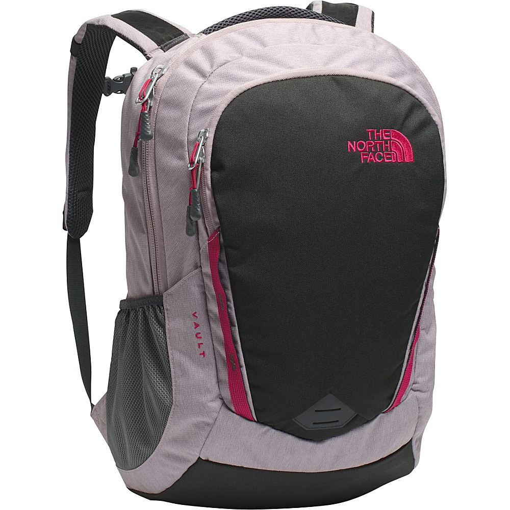 The North Face Women s Vault Laptop Backpack Quail Grey Heather Cerise Pink The North Face Business Laptop Backpacks