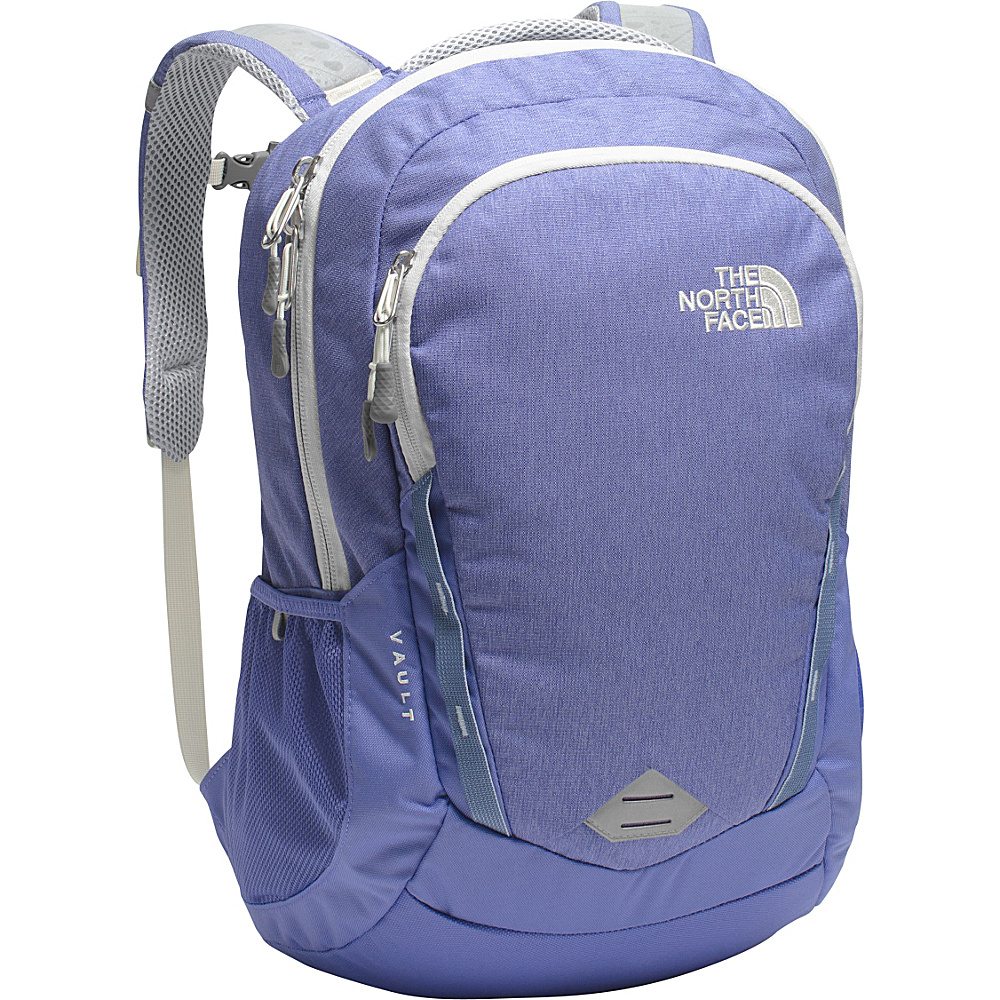 The North Face Women s Vault Laptop Backpack Stellar Blue Heather Arctic Ice Blue The North Face Business Laptop Backpacks