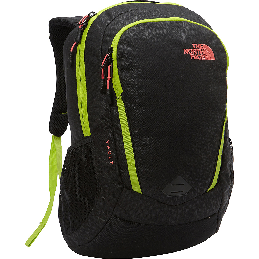 The North Face Women s Vault Laptop Backpack TNF Black Emboss Calypso Coral The North Face Business Laptop Backpacks