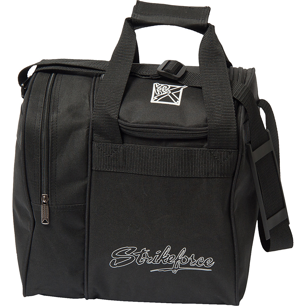 KR Strikeforce Bowling Rook Single Bowling Ball Tote Bag Black KR Strikeforce Bowling Bowling Bags