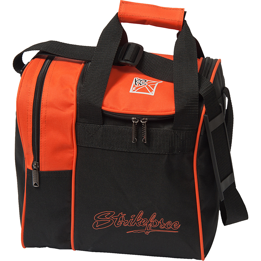 KR Strikeforce Bowling Rook Single Bowling Ball Tote Bag Orange KR Strikeforce Bowling Bowling Bags