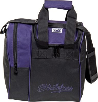 KR Strikeforce Bowling Rook Single Bowling Ball Tote Bag Purple/Black - KR Strikeforce Bowling Bowling Bags