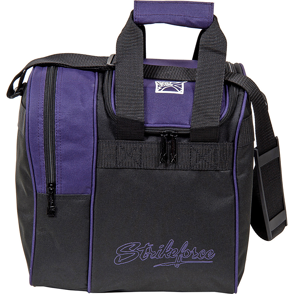 KR Strikeforce Bowling Rook Single Bowling Ball Tote Bag Purple Black KR Strikeforce Bowling Bowling Bags